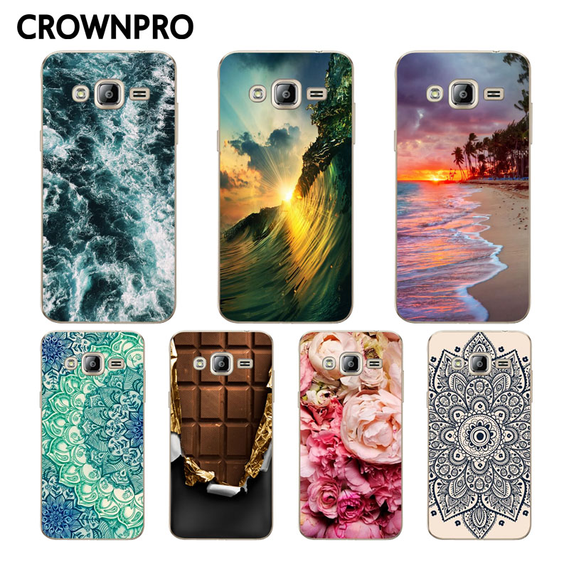 CROWNPRO TPU Case FOR Samsung J3 6 2016 Case Cover Soft Silicone Back FOR Samsung