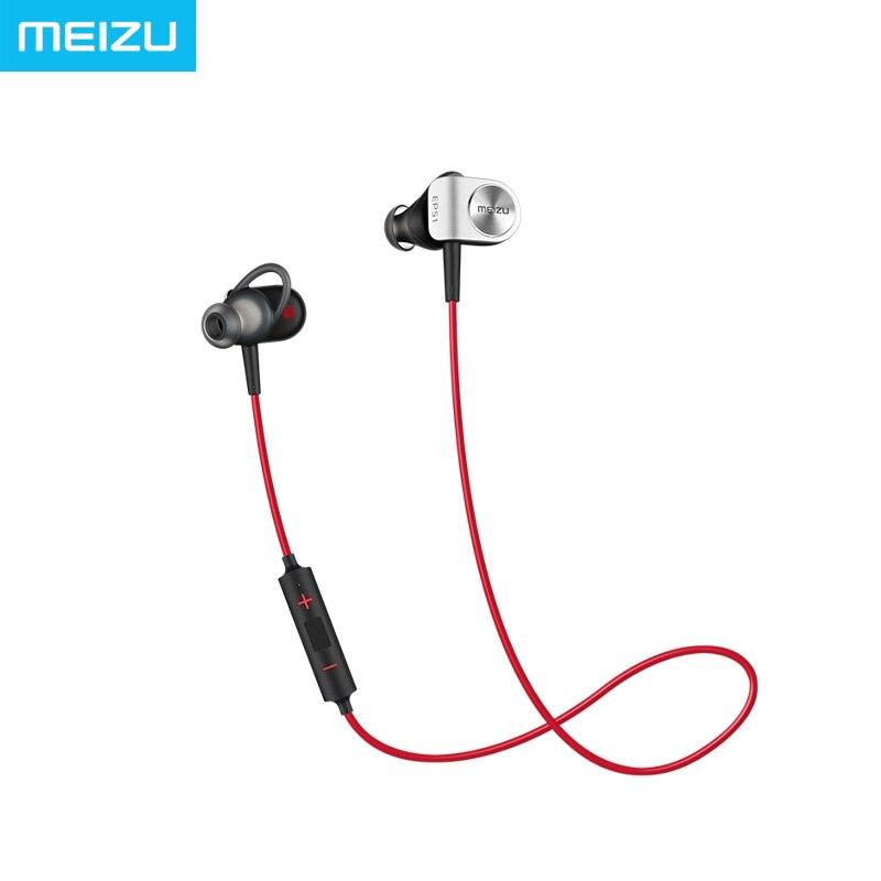 Big Sales Meizu EP51 Sport Earphones Bluetooth 4.1 Wireless AptX Noise Cancelling with MIC Aluminium Alloy shell TPE Line
