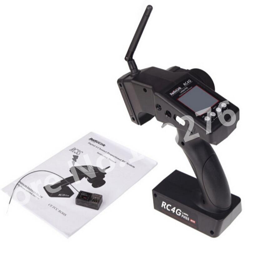 Original RadioLink RC4G 2.4G 4CH Gun Controller Transmitter + R4EH-G Receiver Radio Control System RC Car Remote Control Boat