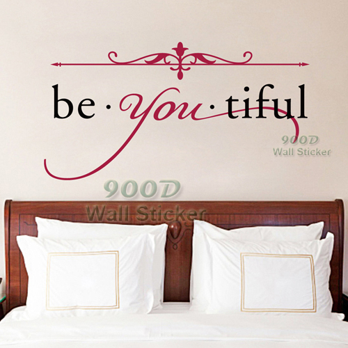 Beautiful Quote Wall Stickers, DIY Inspiration home Decoration Wall Art Decor Wall Decal , DQ2014580