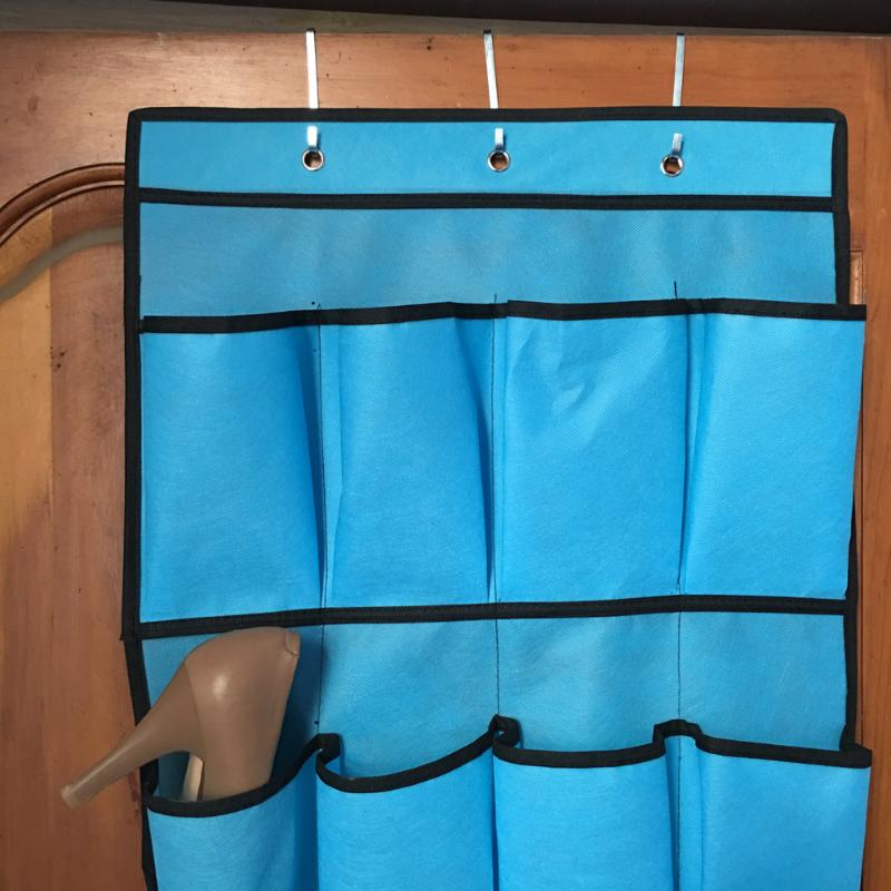 20 Pocket Hanging Shoe Organizers Made with Non Woven Material for Shoe Storage behind the Door 4