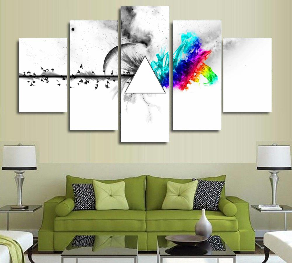 5 Pieces HD Pictures Printed Pink Floyd rock music canvas painting ...