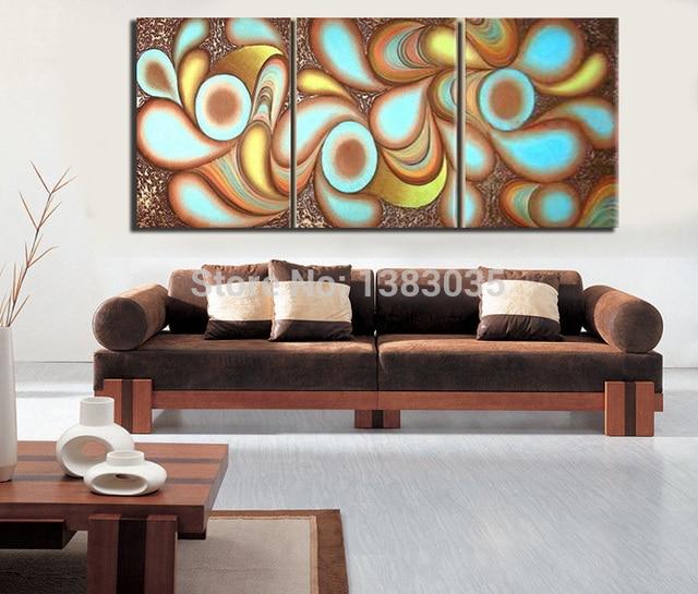 Handgemalte Moderne Leinwand Ölgemälde Bild 3 Stück Moderne Abstrakte  Wand Kunst Set Wohnzimmer Dekoration