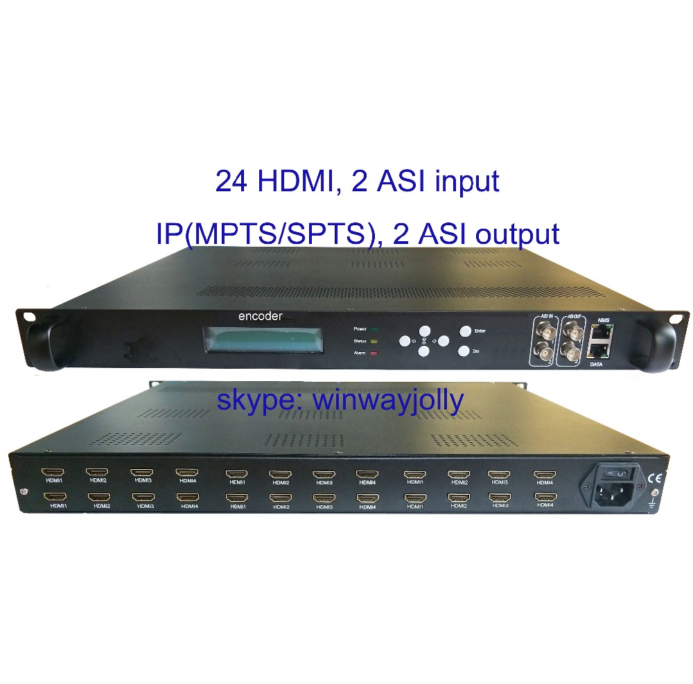 US $3280 0 60% OFF|24 HDMI to IP/ASI encoder, HDMI input and IP/ASI output,  HDMI to IP encoder, HDMI to ASI encoder, in stock for sale, fair price-in