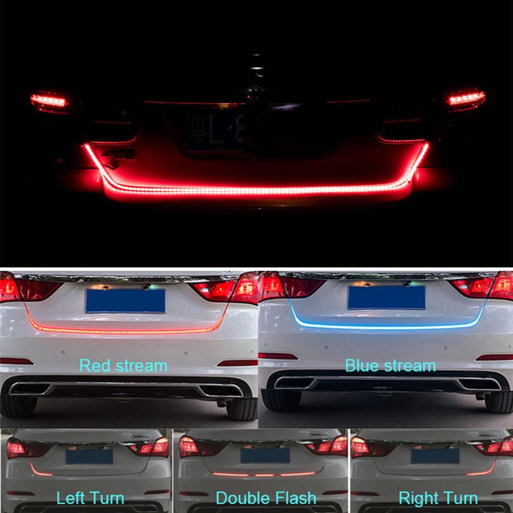 Taitian 48,4 pulgadas luces de circulación diurna intermitente freno dinámico funcionamiento señal de giro led puerta trasera adicional luz de freno para audi