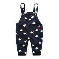 Mudkingdom Boys Tulumlar Yıldız Baskı Çocuklar Düğmeleri Ile Ayarlanabilir Askıları Pantolon Çocuk Bahar Sonbahar Cep Bebek Kız Giysileri