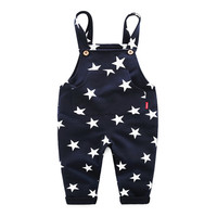 Spring And Autumn Children S Clothing Stars Printed Boys Jumpsuit Kids Pants Kids Clothes Christmas Gift