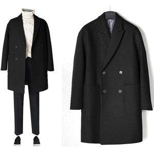 Image 2 - 2019 neue Männer Windjacke Herren Graben Mantel Männer Mantel Lässig Jacke Mode Marke Kleidung männer Wolle Graben Mantel Lange für männer