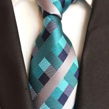8 см дизайнерский мужской галстук индивидуальность пледы сетки Галстуки