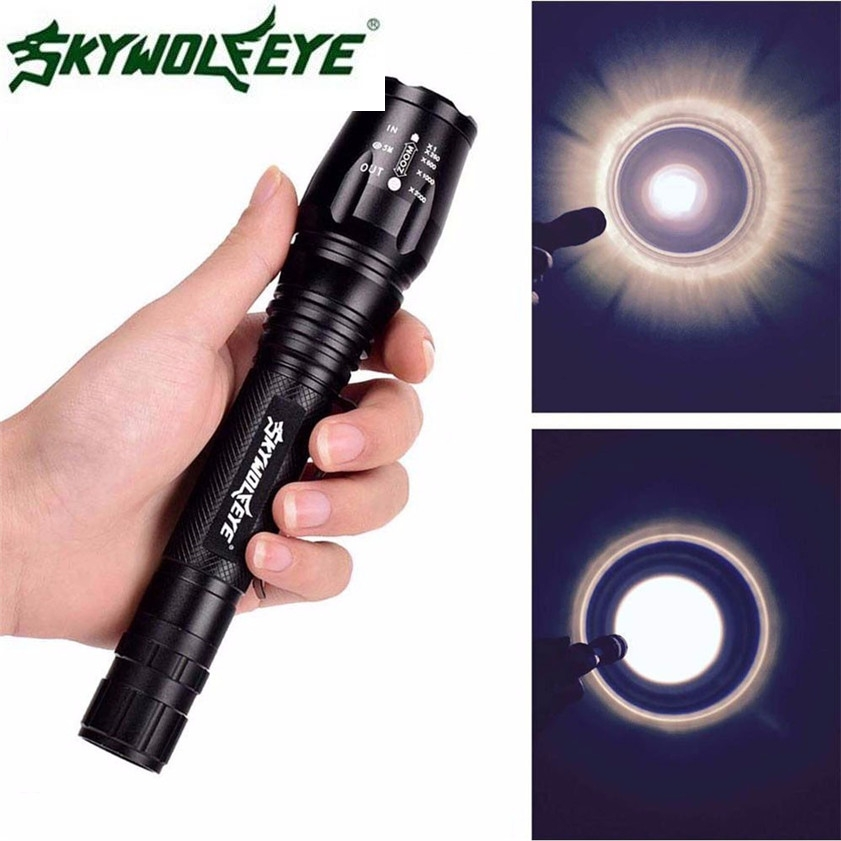 2017 Super Zoomable Tactical 4000 Lumen 5 Modes CREE XML T6 LED Torch Lamp Light 18650 170120