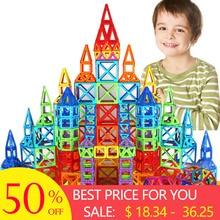 все цены на New 110pcs Mini Magnetic Designer Construction Set Model & Building Toy Plastic Magnetic Blocks Educational Toys For Kids Gift онлайн