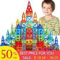 New 184pcs Mini Magnetic Designer Construction Set Model & Building Toy Plastic Magnetic Blocks Educational Toys For Kids Gift