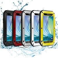 2016 Hot Sale LOVE MEI Powerful Waterproof Dirtproof Aluminum Metal Case For Samsung Galaxy A5 Free