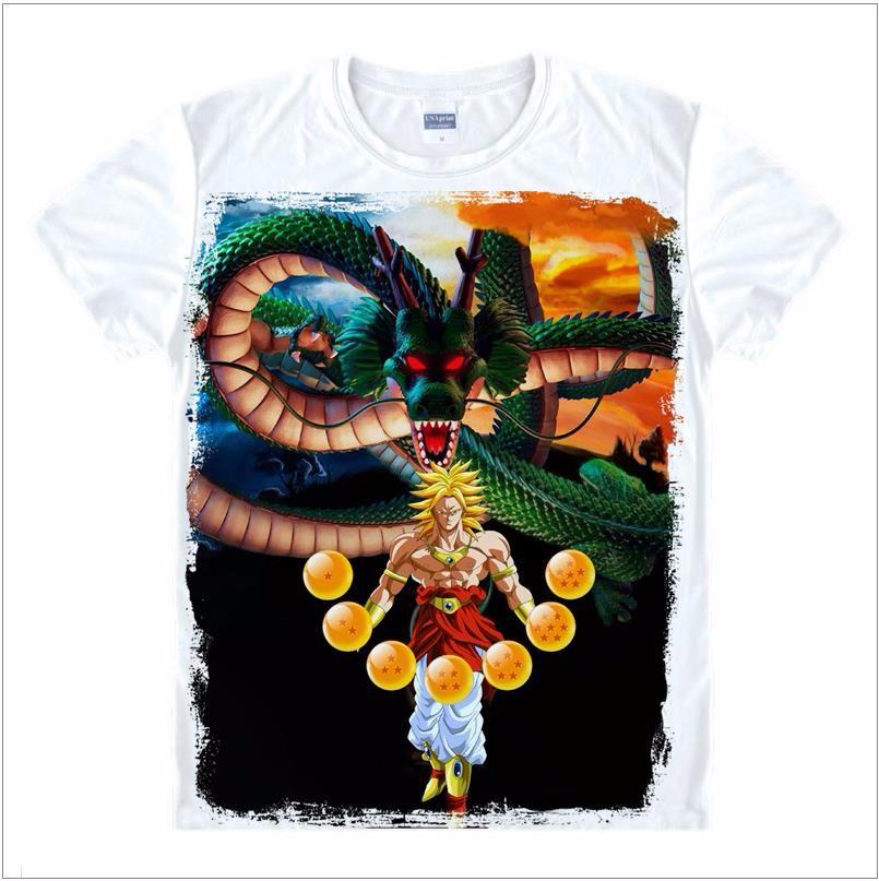 2dragon ball t shirt dragon ball z shirt men Goku Z Vegeta Print Tee Anime Super Saiyan Design Men's Tshirt Cool Cartoon T-shirt