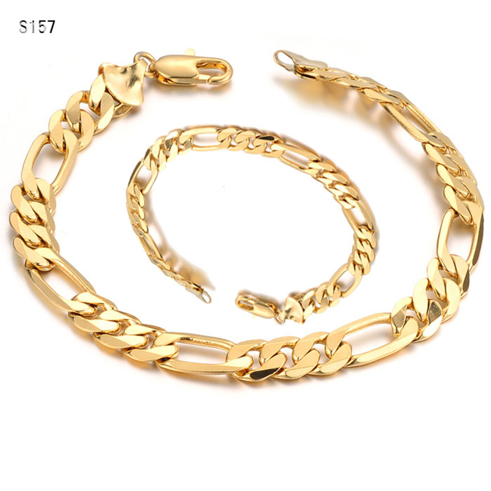 High Quality Men's Bracelets Gold Plating Curb Chain Fashion Cool Personalized Bangle Bracelets Jewelry Christmas Gift BH