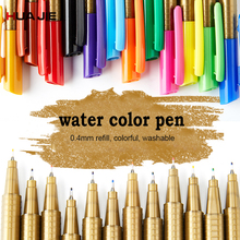 Refillable Paint Brush Ink Pen 12 Colors Washable Water-color Pens Drawing Painting Illustration Pen Marker Pen Student ST-1201 0 4 mm 80 colors fineliner pens water based assorted ink arts drawing fiber pen
