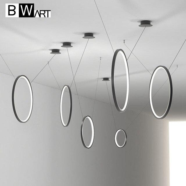 BWART Modern Led Pendant Light Hang Aluminum Circle ring combination lamp Lighting For Living Room dining luminaire suspendu