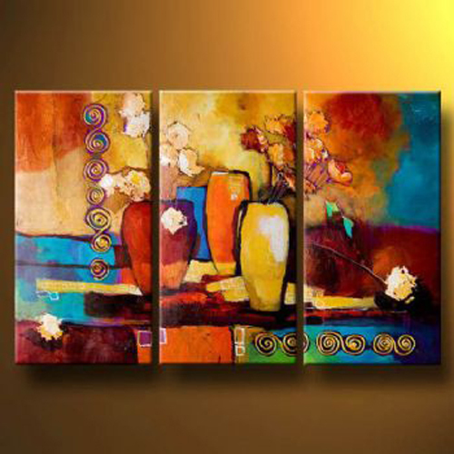 Handmade Oil Painting Canvas Modern Paintings Wall Decor Abstract Art Composition With Flowers In Calligraphy From Home