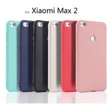 Funda de silicona suave mate para Xiaomi Max 2, funda trasera de TPU para Xiaomi MAX 2 Mi Max2