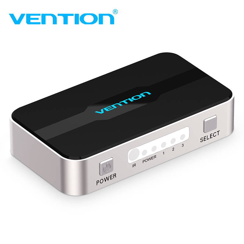 Vention HDMI Splitter Adapter 3 In 1 Out HDMI Switcher 3X1 for XBOX 360 PS4/PS3 Smart Android HDTV 4K*2K HD HDMI Switch Switcher wireless surveillance system 720p 4ch hd wi fi nvr kit outdoor ir night vision ip wifi camera security cctv wireless camera kit