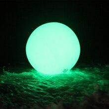 60/80/100 см Рождественский Декор Большой ПВХ надувное со светодиодной подсветкой шар дистанционного Управление/Touch Цвет изменение светодио дный Throw мяч