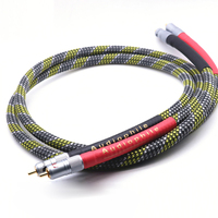 Free shipping QED Signature OFC Silver Plated audio RCA interconnect cable with Nakamichi RCA connector