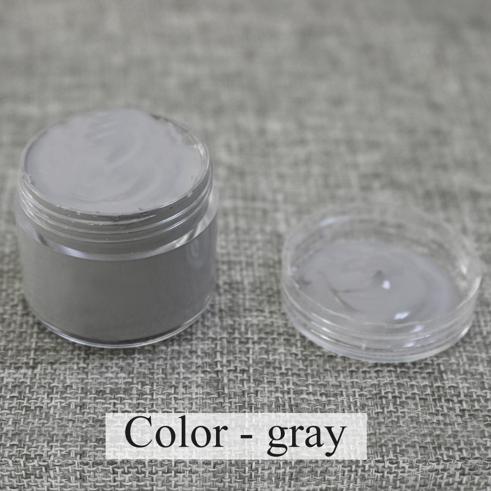 Gray Leather Paint Specially Used for Painting Leather Sofa, Bags, Shoes and Clothes Etc with Good Effect,30ml,free Shipping
