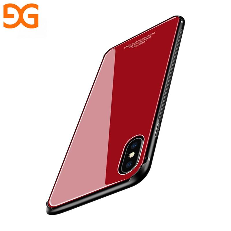 GUSGU Pleine Couverture De Protection Cas Pour l'iphone X TPU et Trempé Verre de Couverture Arrière Pour l'iphone X Cas 5.8 antidérapant Conception Téléphone Cas