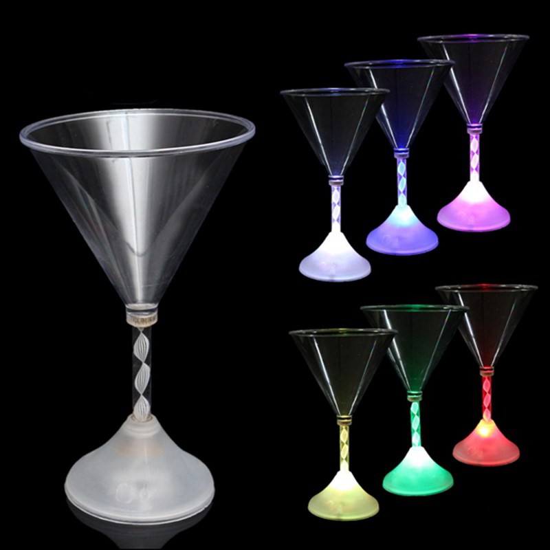 LED Flashing Wine Glass Colorful Light Champagne Cup For Party Bar