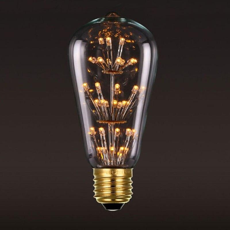 6pcsset 3w e27 filament light bulb vintage edison 220v decor industrial lamps for bars - Decorative Light Bulbs