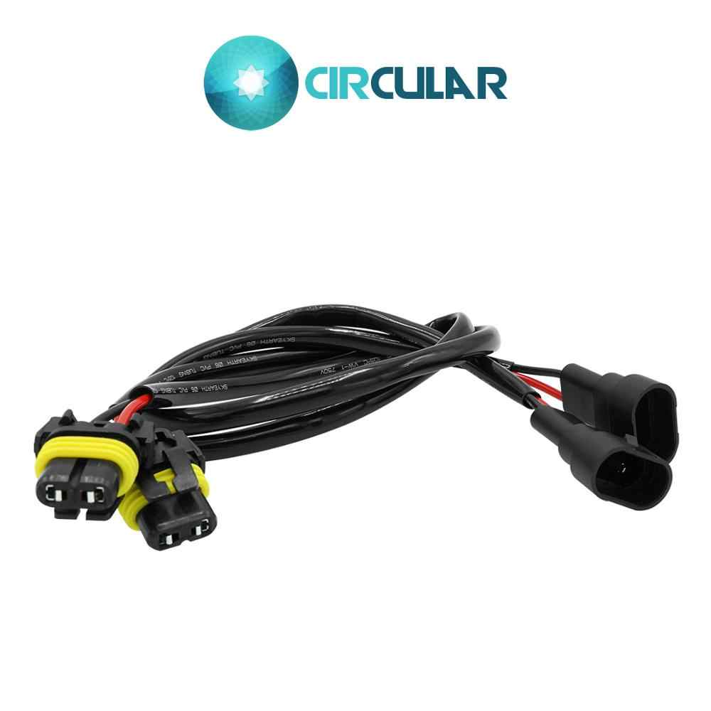 2 Pcs Wire Harness 9005 HB3 HID LED headlight fog lamp connector 9006 HB4 ballast power cable conversion harness socket adapter