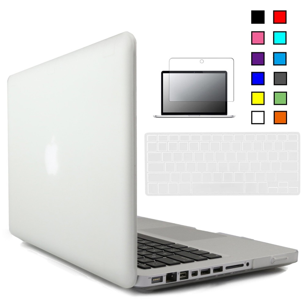 New Crystal Matte Hard Case Cover For Macbook Pro 13 inch A1278 with Keyboard Cover+Screen Protector for Mac Book <