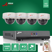 ANRAN CCTV 4CH 1080N HDMI AHD DVR 720P 30 IR Day Night Outdoor Vandal Proof Dome