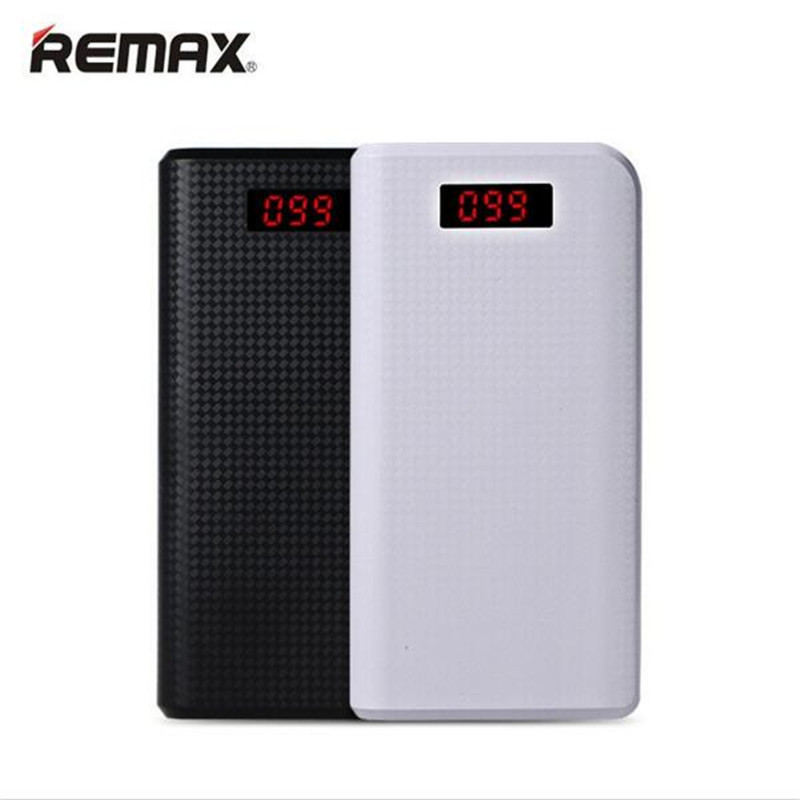 imágenes para REMAX 30000 mAh Banco de Potencia Dual USB Portátil de Luz LED Teléfonos Móviles PC Batería Externa Powerbank Cargador de bateria externa