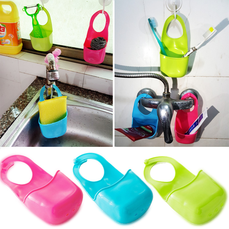 New design kitchen holder hanging strainer bathroom storage container soap dish cloth sponge storage box  accessories organizer
