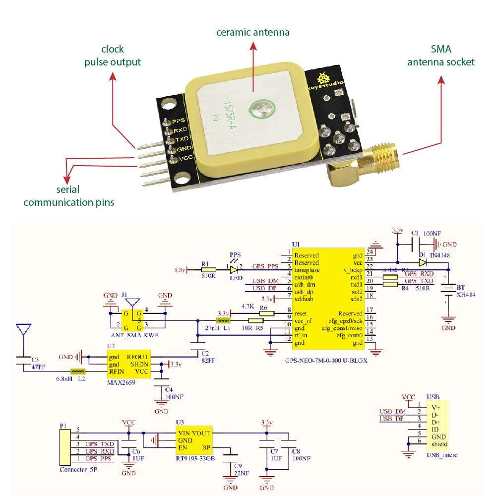KS0319 Keyestudio GPS (4)