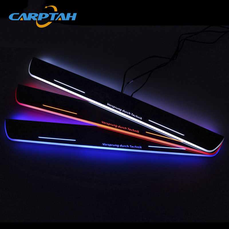 CARPTAH Car Exterior Parts LED Door Sill Scuff Plate Pedal Pathway Dynamic Streamer light For Audi
