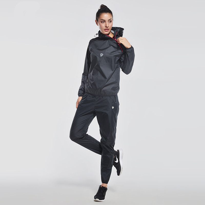 2017 New Women's Running Set Girls Half zipper Sweatshirt 2 Piece/Set For Jacket + Pants Fitness Sport Clothing Demix Wind Coat