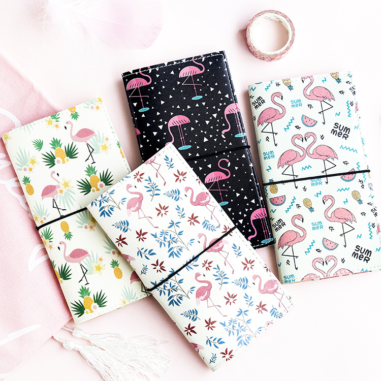 Looking For Flamingo PU Leather Cover Planner Notebook Diary Book Exercise Composition Binding Note Notepad Gift Stationery