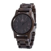 La Naturaleza de La moda De Madera Del Reloj de Los Hombres Analógica Sport Negro Sandalia madera Relojes Casual Reloj de Lujo de Marca Para Hombres Mujeres mejor regalos