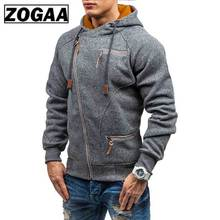 2019 Autumn Winter New Mens Hooded Hoodie Fashion Wild Hoodies Zipper Solid Sweatshirts Coat Large Size M-4XL ZOGAA