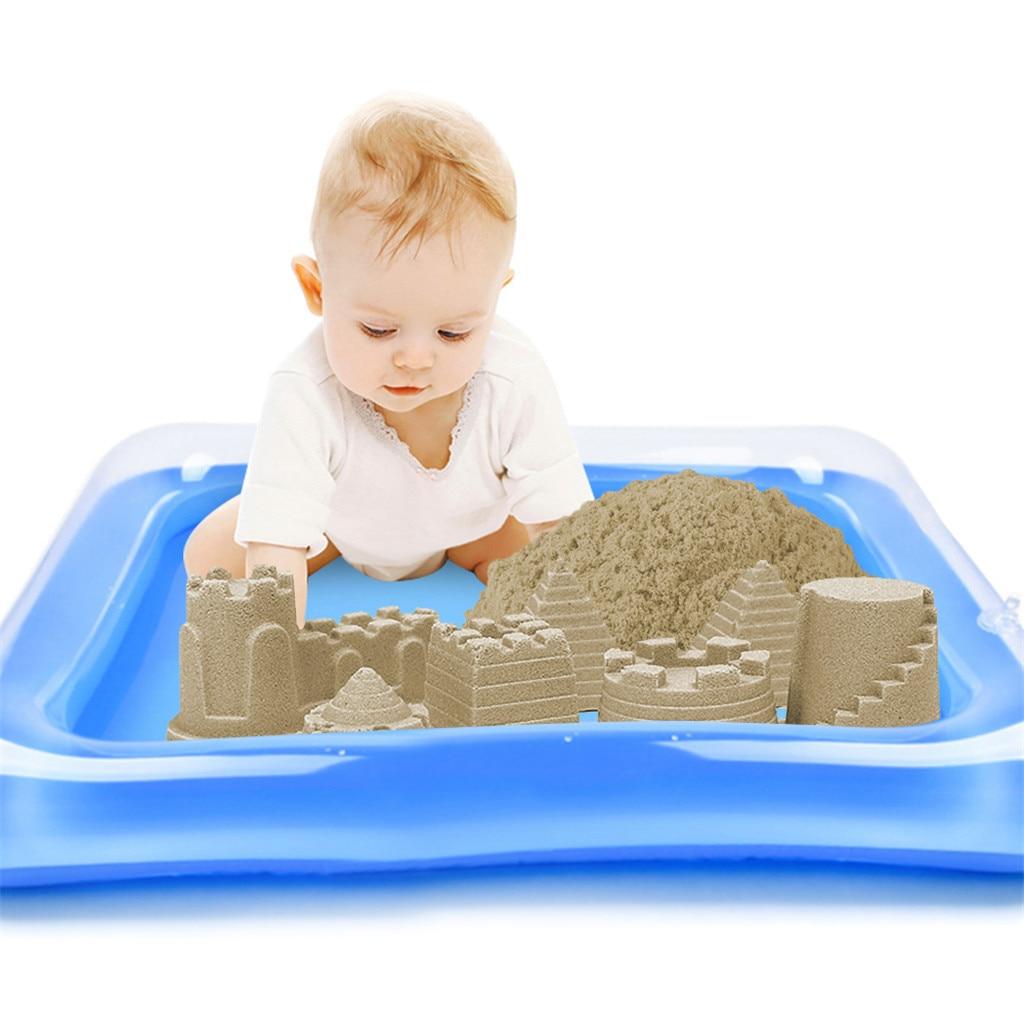 Nieuwe Mode Opblaasbare Zand Lade Kasteel Mobiele Tafel Multifunctionele Zand Schimmel Plastic Kinderen Kids Klei Kleur Modder Speelgoed Indoor Spelen Zand Talrijke In Verscheidenheid