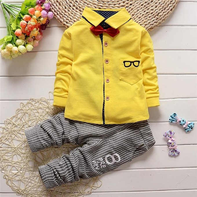 Bear Leader Baby Clothing Sets Kids Clothes Autumn Baby Sets Kids Long Sleeve Sports Suits Bow Tie T-shirts + Pants Boys Clothes 18