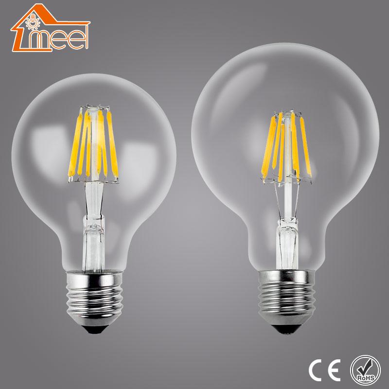 Decorative Incandescent Bulb E27 220V Antique Vintage Retro Edison Light 3W 4W 6W 7W 8W LED Filament Bulb Lamp G80 G95 G125 T30