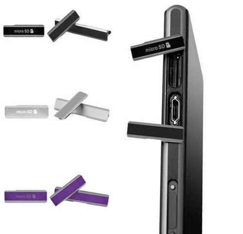 Vannego For Sony Xperia Z1 L39H LT39 C6902 C6903 C6906 C6943 Sim Card Slot Port Micro SD USB Dust Plug Cover Free Shipping
