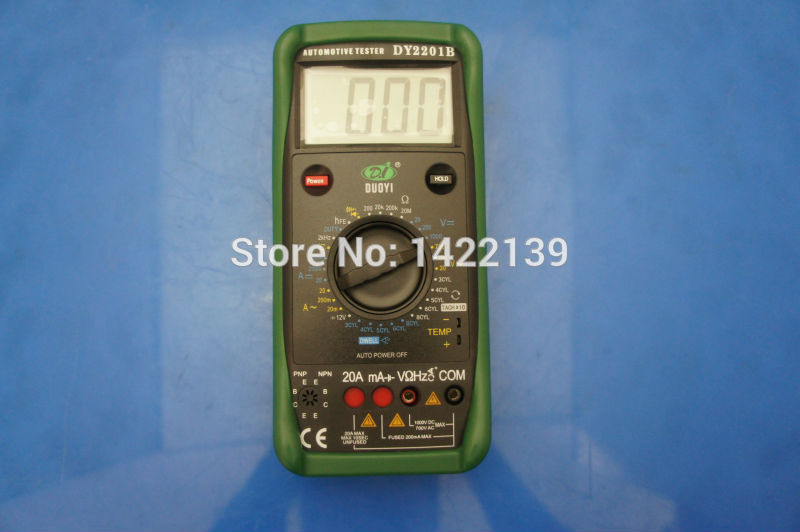 DUOYI DY2201B compteur automobile et testeur de batterie multimètre Instrument électrique - 2
