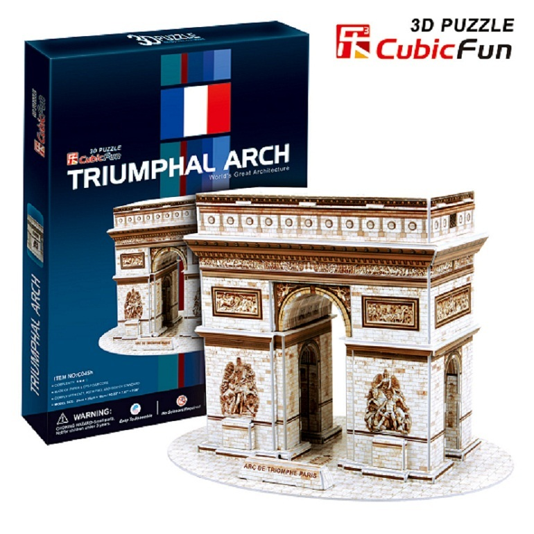 Kingtoy Paper craft 3 d puzzle toy arc DE triomphe (France) - new puzzle game Child Diy  ...