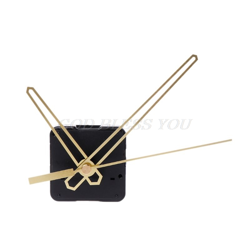 5 Set DIY Gold Hand Wall Quartz Clock Spindle Movement Mechanism Repair Part Kit