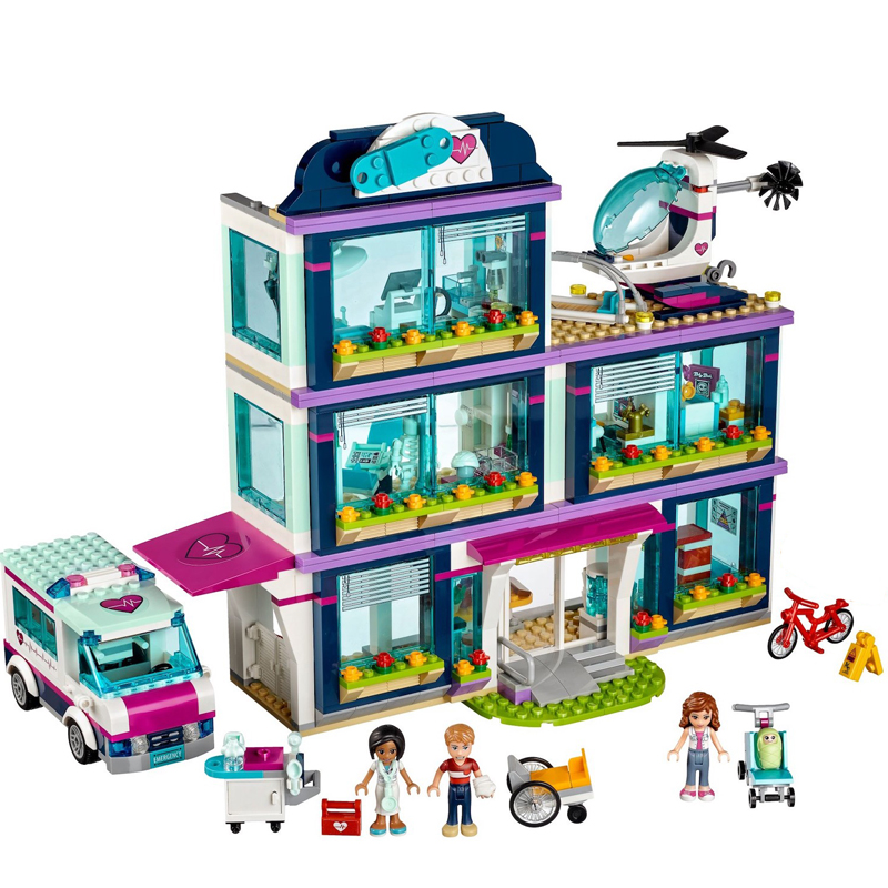 Models building blocks toy 01039 friends Girls Heartlake Hospital kids Bricks diy toy set girl gifts Compatible with Legoing 10494 city supermarket building bricks blocks set girl toy compatible lepine friends 41118