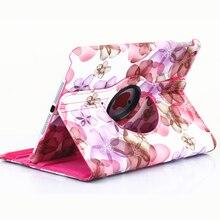 360 Rotación de Diseño Floral Caja de la Tableta Para el ipad 6 Aire 2 Cubierta Para Pad 5 Aire 1 Shell Protector Para el ipad 2/3/4 Flip Con soporte